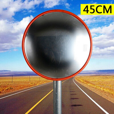 45cm Wide Angle Security Curved Convex Road PC Mirror Traffic Driveway Safety US