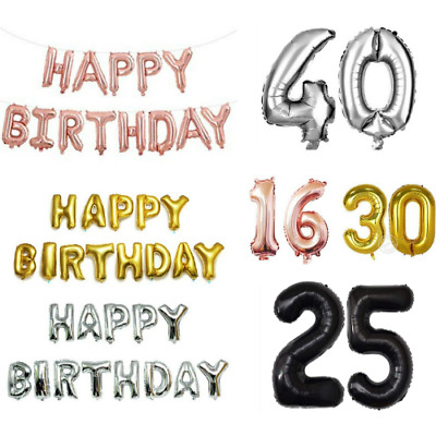 "16"" Foil Numbers Balloons Self inflating Happy Birthday Foil Banners Baloons"