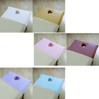 Quality Cotton Beauty Massage SPA Treatment Bed Table Cover Sheets with Hole