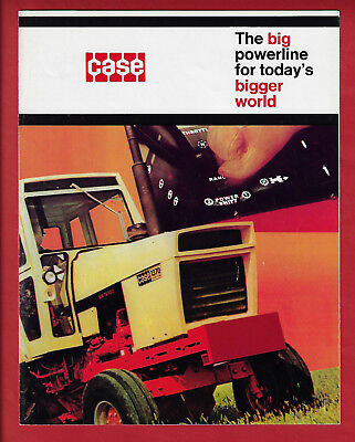 Case Agri King 970-1070-1270-1370 Tractors 6 Page Foldout Brochure