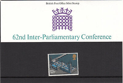 GB  Stamps 1975 62nd Inter-Parliamentary Presentation Pack No.74  MNH