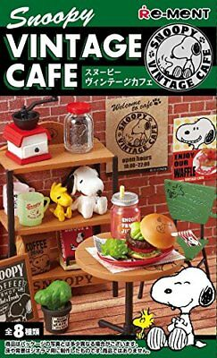 04//19 Re-Ment Miniature Peanuts Snoopy Mono Room Furniture Full set of 8 pieces