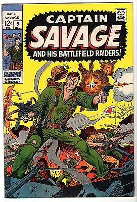 Captain Savage and His Battlefield Raiders #9, Fine Condition