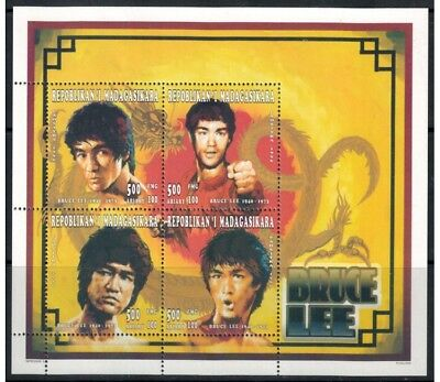 MADAGASCAR 1996 Cinema (Bruce Lee) 4v MNH**