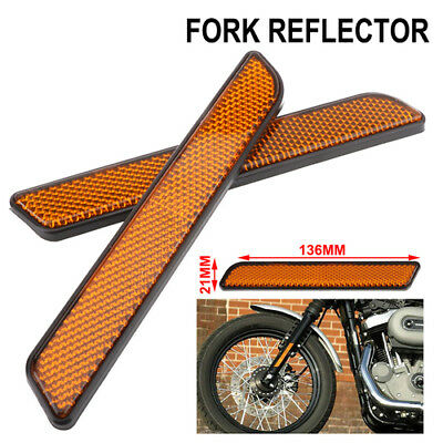 New 2pcs ABS Plastic Front Fork Reflector For Harley All Lower Legs Slider
