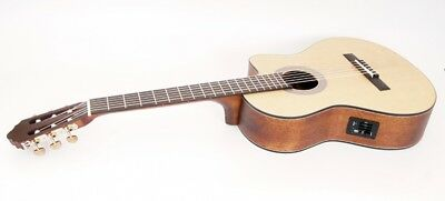 Parkwood (Cort) Electro-Acoustic Classical Guitar, Cut-Out, Solid Wood. PC110