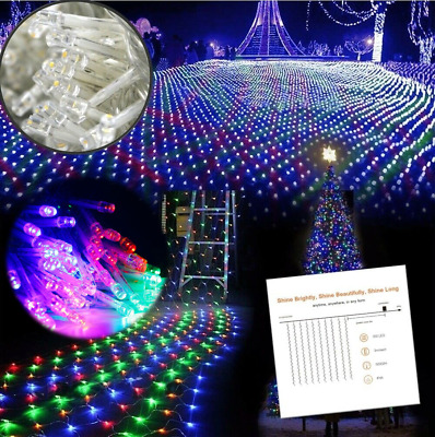 300 COLORED LED 3m Fairy Curtain String Lights Wedding Party Room Decor  Holiday