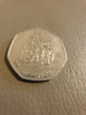 Olympic 50p London 2012 BOCCIA Fifty Pence Circulated.
