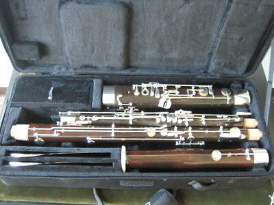 GOOD GERMAN BASSOON FROM WENZEL SCHREIBER & SONS made for MIRAFONE-USA, new pads