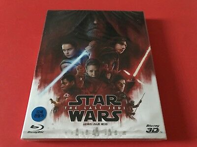 Star Wars the Last Jedi Blu-Ray 2D/3D O-Ring Gorgeous Combo Case Sold out