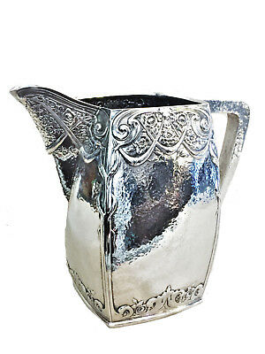 Dutch Arts & Crafts, Silver Plated Water Pitcher, 1900s