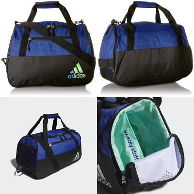 designer fashion b2ae0 2103f adidas squad iii duffel casual accessories  optic stripe black hi res blue dd1614c77f900