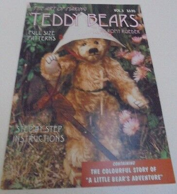 The Art of Making Teddy Bears Vol 3 Romy Roeder Full Size Bear Patterns 6 prjts