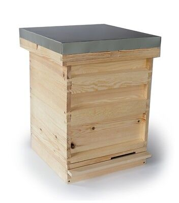 National Beehive complete set  with 2 Super boxes flat packed Pine