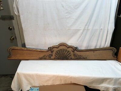 VICTORIAN OAK window DOOR header pediment crown MOLDING 56.5 X 9in Sea Shell