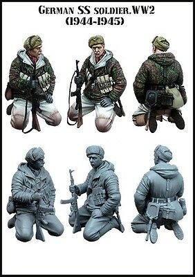 1/35 Resin Model Kit German Ss Soldier Ww2 (Top Quality Molded Figure)