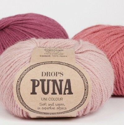 DROPS 100% Super Fine Alpaca DK yarn - PUNA Double Knitting UNTREATED,UNBLEACHED