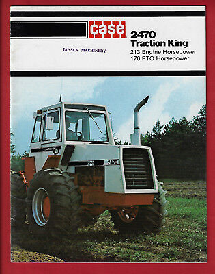 Case 2470 Traction King 24 Page Brochure A11077D