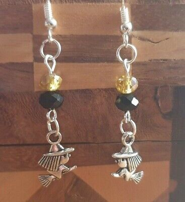 Cute Gothic Pagan Wicca Witch Drop Dangle Earrings + Free Gift Bag