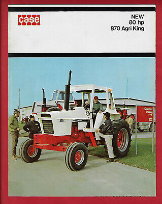 CASE NEW 80 hp 870 AGRI KING TRACTOR 6 PAGE FOLDOUT BROCHURE