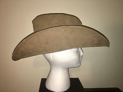 469a27ecc VINTAGE COWBOY HAT Suede Leather Western Cap By United Hatters Union Tan Med