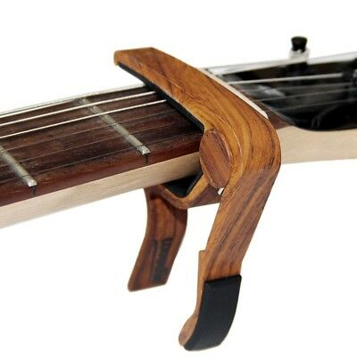 US Quick Change Release Folk Acoustic Electric Guitar Capo Trigger Key Clamp