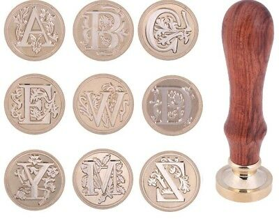 Letters Classic Alphabet Initial Sealing Wax Seal Stamp Brass Copper Head A-Z