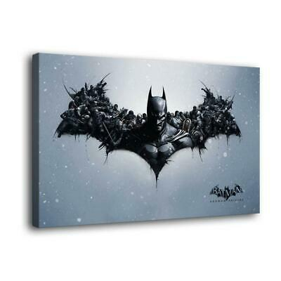 "12""x20"" batman arkham HD Canvas Print Painting Home Decor room Wall Art Pictures"