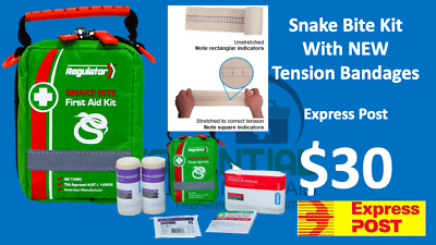 Snake Bite First Aid Kit With Tension Indicator Bandages Express