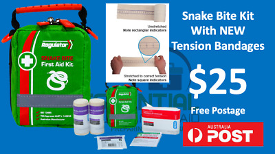 Premium Snake Bite First Aid Kit With Tension Indicator Bandages