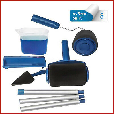 Multifunctional Paint Roller Brush Handle Wall Decorative tools 8pcs In One Kit