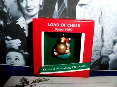 Load Of Cheer`1989`Miniature-Part Of Your Holiday Tradition,Hallmark Ornament