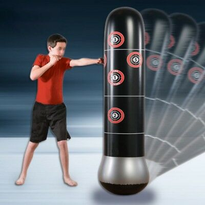 160cm Boxing Punching Bag Inflatable Free-Stand Tumbler Muay Thai Box Training