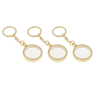 3x Coin Holder Keychain 30mm Souvenir Commemorative Coin Keyring Boxes