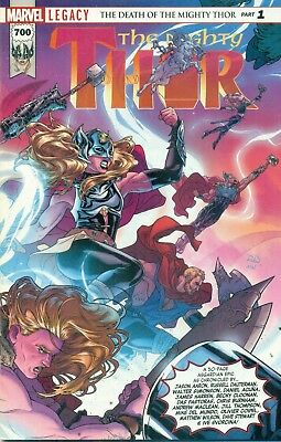 Mighty Thor #700 Loki Death Karnilla Wrap Variant A MV Stamp Avengers NM/M 2017