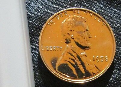 1958 Proof Lincoln Memorial Penny cent