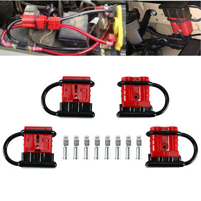 4 PACK 6-8 Gauge Battery Quick Connect/Disconnect Wire Harness Plug  Wire Harness Battery on battery mount, battery gauge, battery tender, battery heated jacket, battery cover, battery cart,
