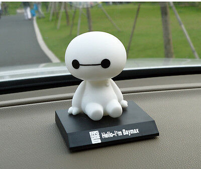 New BIG HERO 6 BAYMAX Collections Dolls Bobblehead Toys Car Adornment