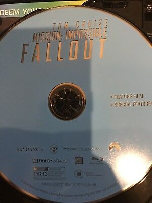Mission Impossible Fallout Blu-ray Disc and digital code