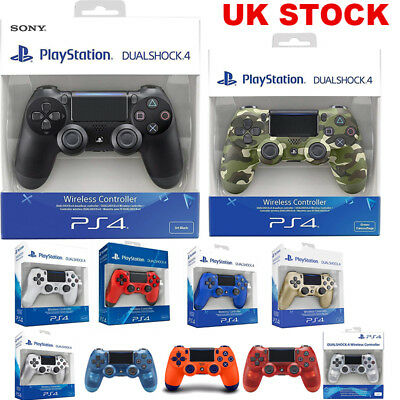 Official PlayStation DualShock 4 Wireless Controller (V2) Black/ Blue/ Green/Red