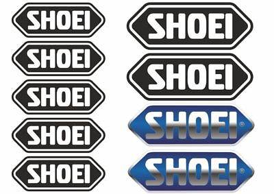 9x SHOEI Helmet Decals Stickers Moto Motorcycle Sponsor Sticker Sheet Adhesive