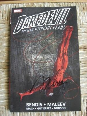 Marvel Daredevil The Man Without Fear Bendis Maleev Signed Copy Firmato Devil