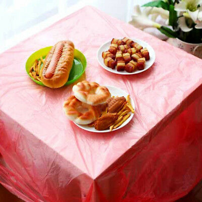 10 Pcs Red Universal Large Disposable Square Tablecloth Table Cover Decoration B