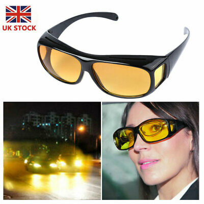 ee26eaf33fd Polar-Tech - Night Vision HD Driving Glasses Polarized Yellow Lens Tinted  Unisex