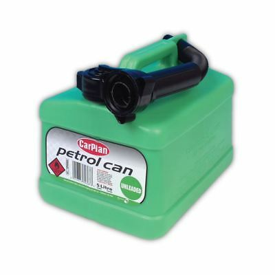 5L 5 Litre Green Plastic Jerry Can Fuel Unleaded Pouring Spout Petrol Container