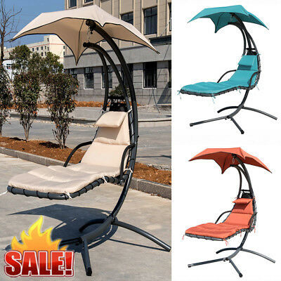 Garden Helicopter Hammock Swing Hanging Chair Seat Dream Chair Lounger w/ Canopy