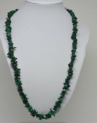 Vintage  Malachite beaded Necklace   ~ 22 inches long