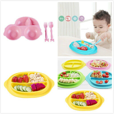 Kids Silicone Food Tray Plate Baby Snack Mat Toddler Placemat Mat Suction Table