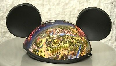Disney Mickey Mouse Ears Hat with Patch and New Fantasyland Cover Size Adult