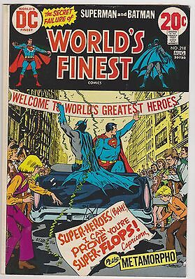 World's Finest #218 with Superman, Batman & Metamorpho, Fine Condition